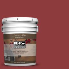 BEHR Premium Plus Ultra 5-gal. #S-H-180 Awning Red Flat/Matte Interior Paint-175305 at The Home Depot