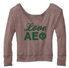 UCSB AEPhi | Love AEPhi Dolman '12 Pebble Brown