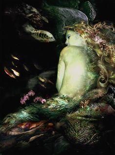Golden Slumber Mermaid by Russ Horseman