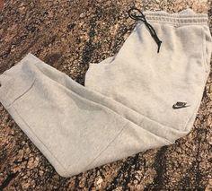 50f25b819e57 Nike Tech Fleece Pants Cuffed Grey Heather Black 545343 065 sz XXXL 3XL