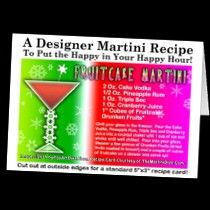 Personalizable #Christmas #Cocktail #Recipe GREETING #CARDS & POSTCARDS! Share The Merry Martini Recipes & Spread The #HoHoHappyHour Love! Click image for all the designs! Starting at $1.00!
