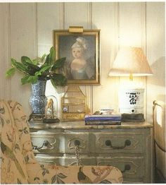 french romance from Charles Faudree Cote de Texas French Country Living Room, French Country Style, English Style, Country Kitchen, French Decor, French Country Decorating, Blue Painted Furniture, Shabby, Country Furniture