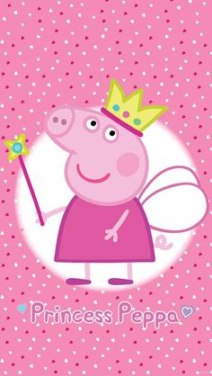 Official Peppa Pig Princess Wall Mural Comes in Six Sections for Easy Application. Free UK Delivery Available. Official Peppa Pig Princess Wall Mural Comes in Six Sections for Easy Application. Free UK Delivery Available. Peppa Pig Wallpaper, Cartoon Wallpaper Iphone, Peppa Pig Background, Princess Peppa Pig Party, Peppa Pig Images, Peppa Pig Stickers, Pig Birthday, Cute Wallpapers, Photos