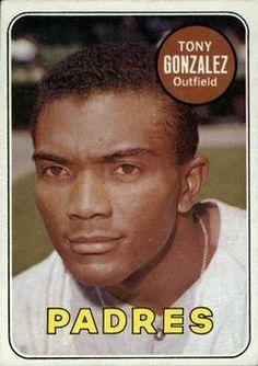 1969 Topps #501b Tony Gonzalez Front