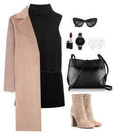 """Untitled #978"" by romane-inspiration ❤ liked on Polyvore featuring Marc Jacobs, Helmut Lang, Glamorous, Gianvito Rossi, Kara, Olivia Burton, Forever 21, MAC Cosmetics, CÉLINE and women's clothing"