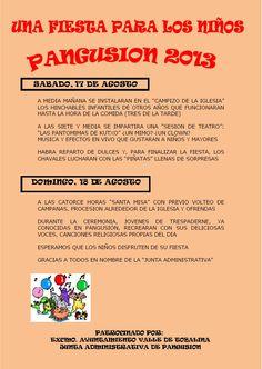 17 y 18 de agosto. Fiestas patronales. Pangusion. Las Merindades