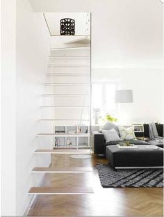 swedish interiors - floating staircase by ooh_food, via Flickr