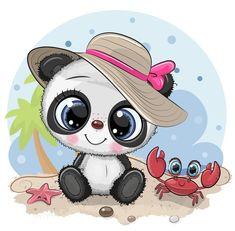 Niedlicher Panda, Cartoon Panda, Cute Panda, Cute Cartoon, Animated Smiley Faces, Cute Sheep, Tatty Teddy, En Stock, Kids Prints