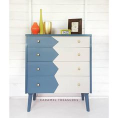 Items similar to SOLD SOLD Painted chest of drawers, vintage blue chest of drawers, grey dresser, mid century modern unit, retro upcycled furniture on Etsy Furniture, Shabby Chic Dresser, Painted Furniture, Handmade Furniture, Blue Chest Of Drawers, Upcycled Furniture, Furniture Collection, Blue Chests, Retro Furniture