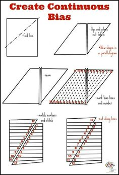 Sewing tricks bias tape New Ideas Quilting Tips, Quilting Tutorials, Sewing Tutorials, Sewing Patterns, Skirt Patterns, Dress Tutorials, Coat Patterns, Blouse Patterns, Techniques Couture