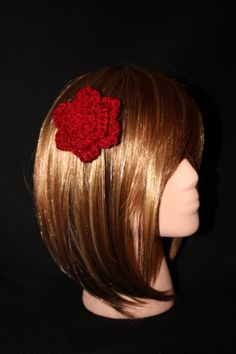 Red Rose Hair and Accessory Clip by RedRoseAccessories on Etsy