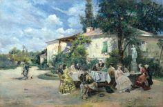 Theodor Aman – Petrecere in gradina