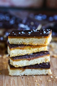 Salted Caramel Chocolate Cookie Bars from @Jenna (Eat, Live, Run)