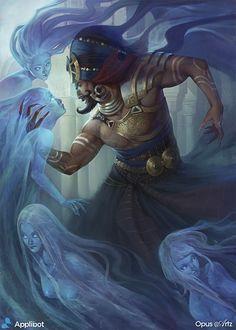OPUS ARTZ – Digital Art Entertainment Design: King Arabian of the Cryptids - Entertainment Character Concept, Character Art, Concept Art, D D Characters, Fantasy Characters, Fantasy Creatures, Mythical Creatures, Tatoo Art, Arabian Nights