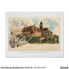 Marienburg, Headquarters of the Teutonic Order Poster