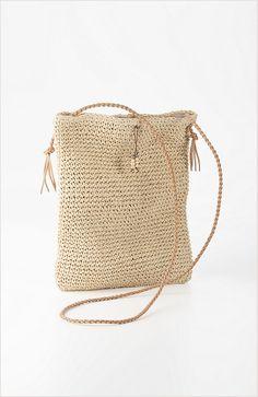 straw cross-body bag...J.Jill