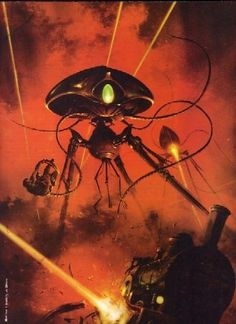 The War of the Worlds | Art by ? Gibbons | (If you know who the artist is, please Comment below!)