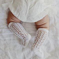 CÓNDOR Openwork Lace Knee High Socks - White Baby girl | Newborn Girl | $14 Cute Little Baby, Little Babies, Cute Babies, Lil Baby, Cute Socks, Baby Socks, Baby Tights, Newborn Fashion, Knee High Socks