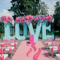 свадебная арка из гигантских букв - Поиск в Google