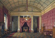 Interiors of the Winter Palace. first spare half. bedroom Grand Duchess Maria Nikolaevna.