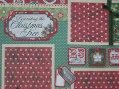 Decorating the Christmas Tree - 2 Premade Scrapbook Pages Layout 12x12 | eBay