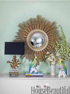 Side table display. Design: Fawn Galli. Photo: Jonny Valiant. housebeautiful.com
