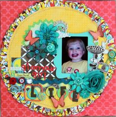 I found this on the Bo Bunny blog and LOVE the edge.... I had to pin it so I can figure out how she did that.  Designed by Debbie Sherman