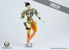 LEGO Overwatch characters Tracer and Zenyatta