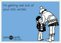 I hate winter, wheres summer?