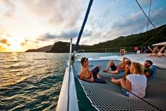 If you have never sailed in the hammock of a catamaran, you haven't lived!