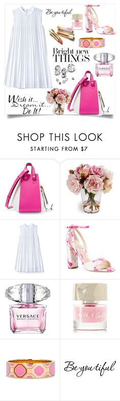 """""""Untitled #310"""" by kercey ❤ liked on Polyvore featuring Loewe, Lacoste, Monique Lhuillier, Versace, WALL, Smith & Cult, Kate Spade and Schone"""