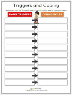 Anger Worksheets for Kids Anger Coping Skills Anger Management Children Anger Coping Skills, Coping Skills Worksheets, Therapy Worksheets, Therapy Activities, Play Therapy, Printable Worksheets, Therapy Ideas, Elementary School Counseling, School Social Work