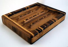 Oiled Tiger Strand Bamboo Soap Dish  by FlatlandersSoapCo on Etsy, $15.00