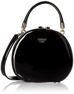 GUESS Azalee Petite Round Case Patent Black * Read more at the image link. Guess Handbags, Mini Handbags, Purses And Handbags, Fashion Handbags, Fashion Shoes, Fashion Accessories, Women's Fashion, Clutch Purse, Crossbody Bag