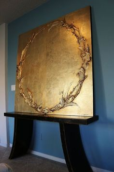 Gold Leaf by Cody Hooper. Gold Leaf by Cody Hooper. Wal Art, Gold Leaf Art, Sculpture Painting, Diy Painting, Painted Leaves, Art Abstrait, Painting Techniques, Painting Inspiration, Contemporary Art