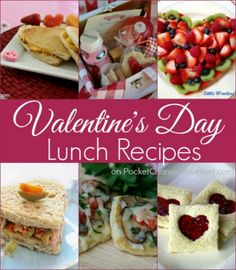 Valentine's Day Lunch Recipes - Whip up a special lunch for your sweetie or the family! Pin to your Recipe Board!