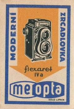 Check out this vintage czechoslovakian matchbox label. Fabulous. @Matchbook Magazine