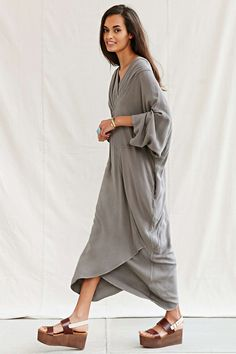 Vintage Grey Maxi Dress - Urban Outfitters