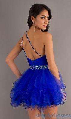 Cute Short Blue Dresses