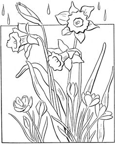 easy spring coloring pages for