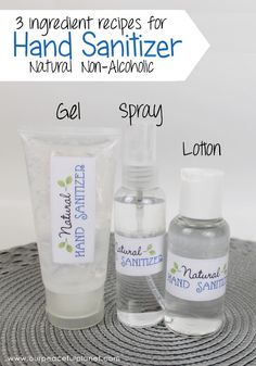 Whip our our 3 ingredient DIY hand sanitizer in minutes! It has no alcohol, is natural, safe and good for your skin. There's even a 2 ingredient version! Sanitize Natural DIY Hand Sanitizer Ingredients No Alcohol) Natural Disinfectant, Disinfectant Spray, Homemade Disinfecting Wipes, Homemade Wipes, Homemade Hand Soap, Homemade Sunscreen, Homemade Face Moisturizer, Homemade Perfume, Facial Cleanser