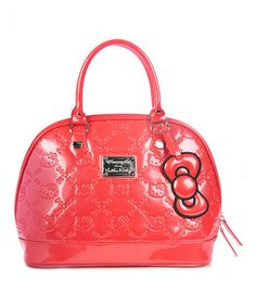 Take a look at this Poppy Red Embossed Hello Kitty Tote by Hello Kitty on   83908b92c3
