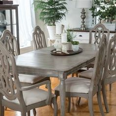 Dining Table Makeover with Paint and Moulding - by Orphans with Makeup