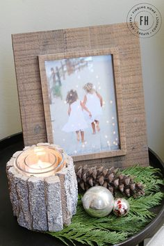 Farmhouse Christmas Decorating Home Tour - Finding Home--Side Table