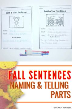 Help your students write complete sentences with this simple step-by-step resource. Naming and Telling Parts Writing Complete Sentences, Simple Sentences, Sentence Writing, Writing Prompts, Parts Of A Sentence, Sentence Structure, Classroom Resources, Teaching Resources, Picture Prompt