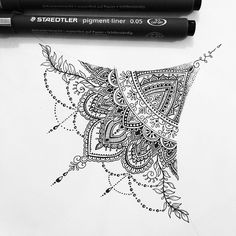 instaaxx:  Sternum design for Ellie Sparks (all designs are subject to copyright) to order your own custom tattoo design visit http://ift.tt/1jRa4ZY or email oliviafaynetattoodesigner@hotmail.com #mandala #mehndi #sternumtattoo #tattoodesign #tattoo by oliviafaynetattoo http://ift.tt/1RHb7sZ