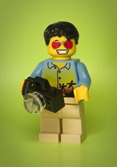 een lego fotograaf, hebbe hebbe hebbe