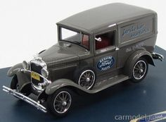 GENUINE-FORD-PARTS GPF440 Scale 1/43  FORD USA MODEL-A VAN ICRICHO MOTORS GENUINE FORD PARTS 1931 GREY