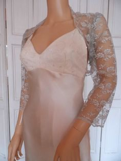 Silver lace threequarter length sleeved by ElizabethMerlin on Etsy, £19.99