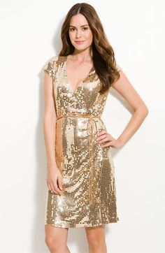 3f32ae5d9e MICHAEL Michael Kors Sequin Knit Wrap Dress